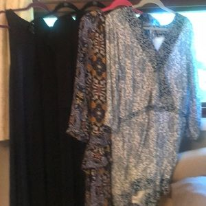 Set of 5 loft dresses and one romper.